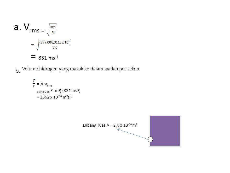 a.V rms = = = 831 ms -1 b.