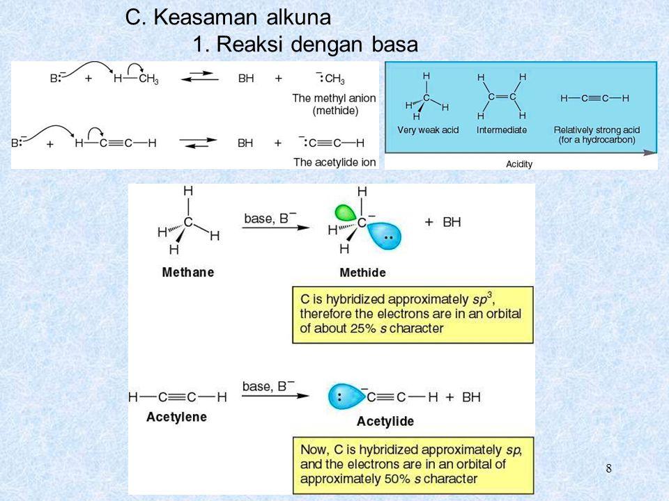 Chapter 9 8 C. Keasaman alkuna 1. Reaksi dengan basa