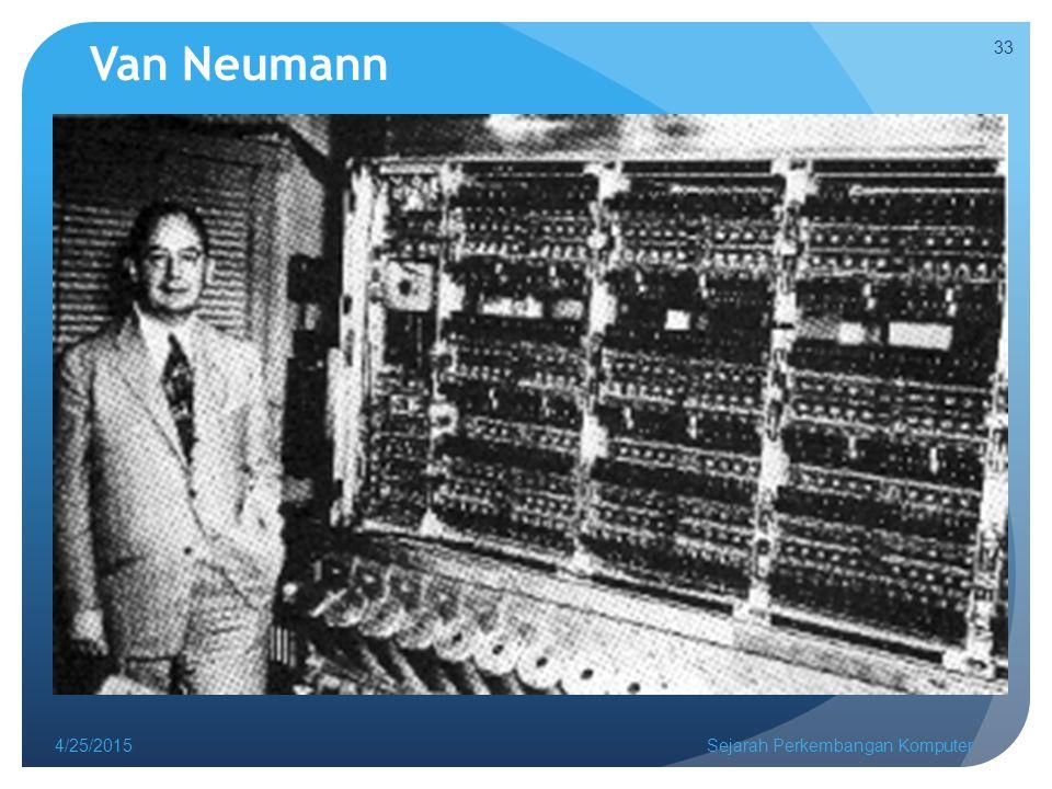 Van Neumann 4/25/2015Sejarah Perkembangan Komputer 33