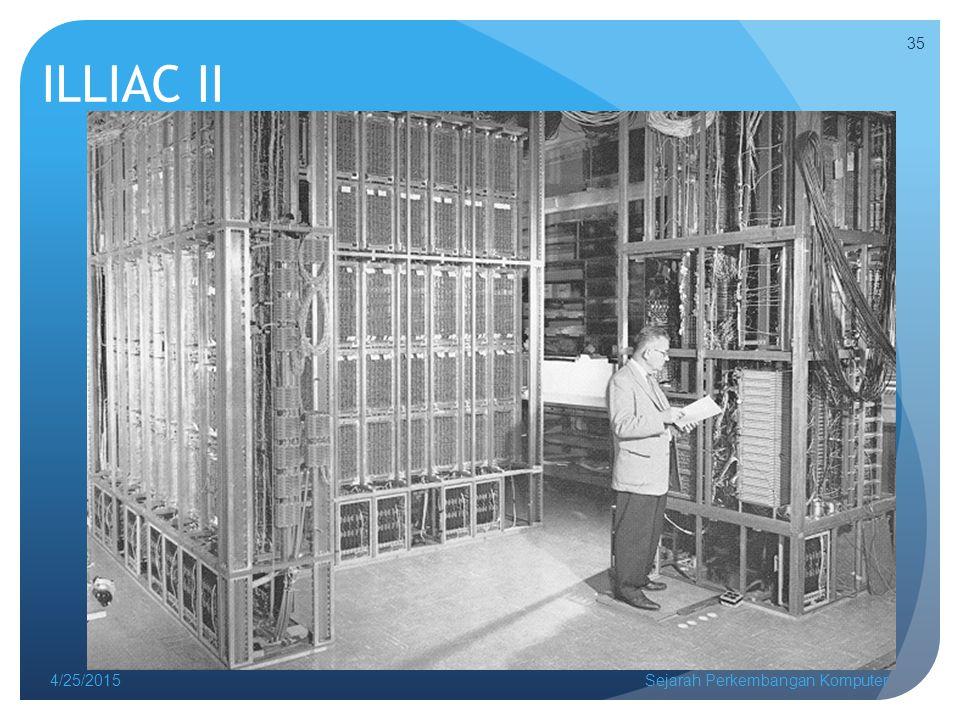 ILLIAC II 4/25/2015Sejarah Perkembangan Komputer 35