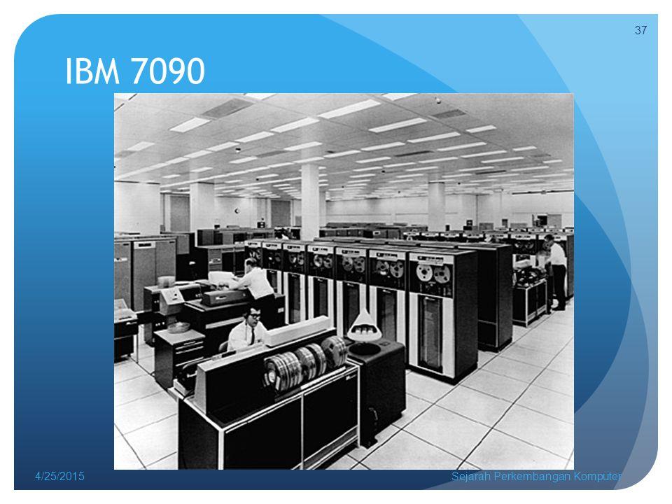 IBM 7090 4/25/2015Sejarah Perkembangan Komputer 37