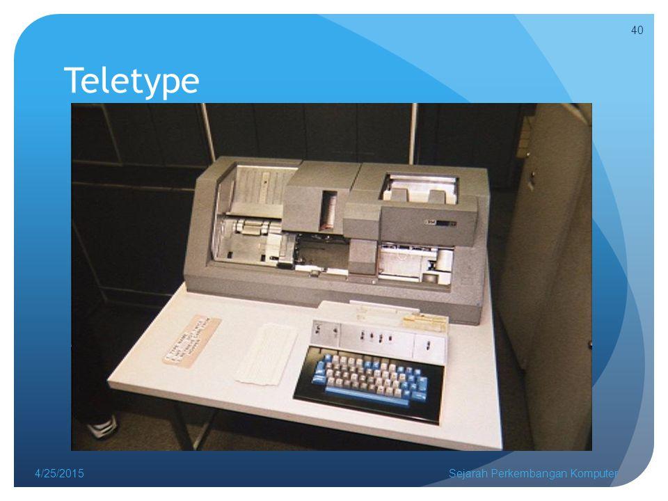 Teletype 4/25/2015Sejarah Perkembangan Komputer 40