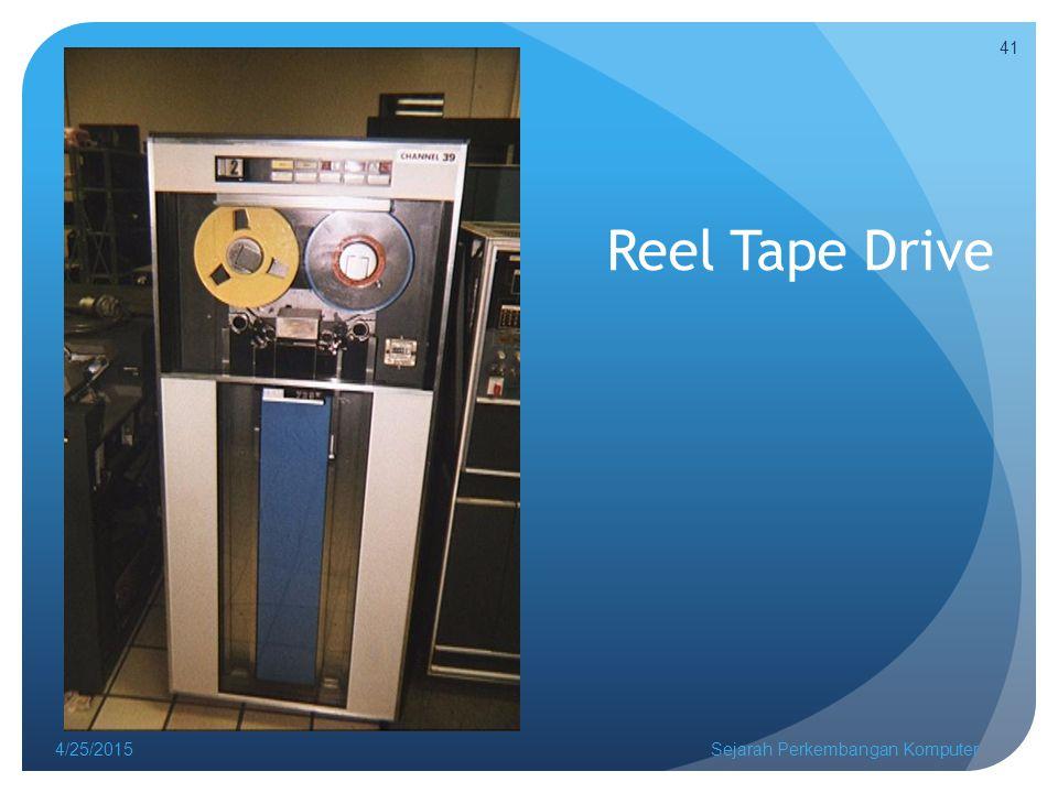 Reel Tape Drive 4/25/2015Sejarah Perkembangan Komputer 41