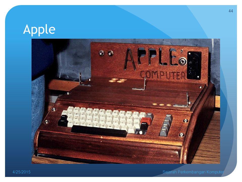 Apple 4/25/2015Sejarah Perkembangan Komputer 44