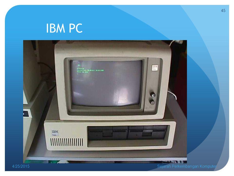 IBM PC 4/25/2015Sejarah Perkembangan Komputer 45