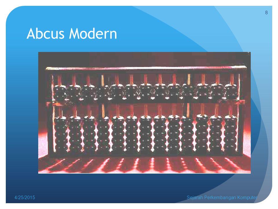 ENIAC 2 4/25/2015Sejarah Perkembangan Komputer 29