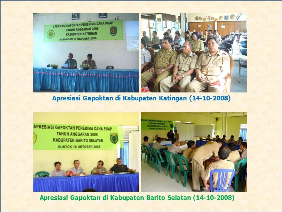 Apresiasi Gapoktan di Kabupaten Barito Selatan (14-10-2008) Apresiasi Gapoktan di Kabupaten Katingan (14-10-2008)