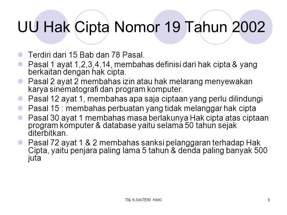 TI& K-MATERI HAKI7 Perbuatan Yang Tidak Melanggar Hak Cipta.