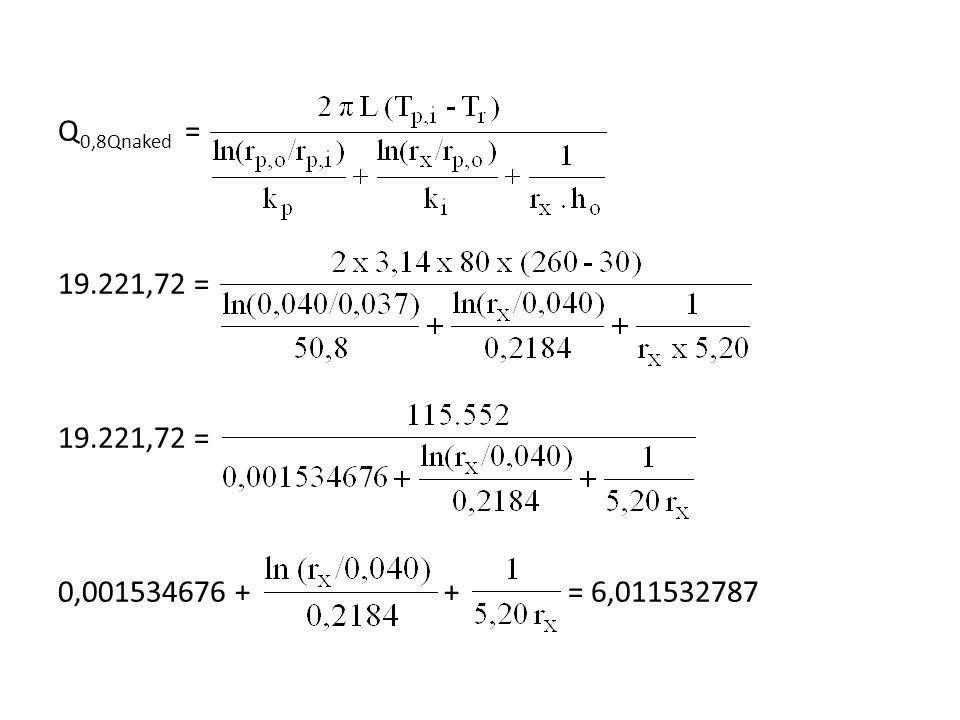 Q 0,8Qnaked = 19.221,72 = 19.221,72 = 0,001534676 + + = 6,011532787