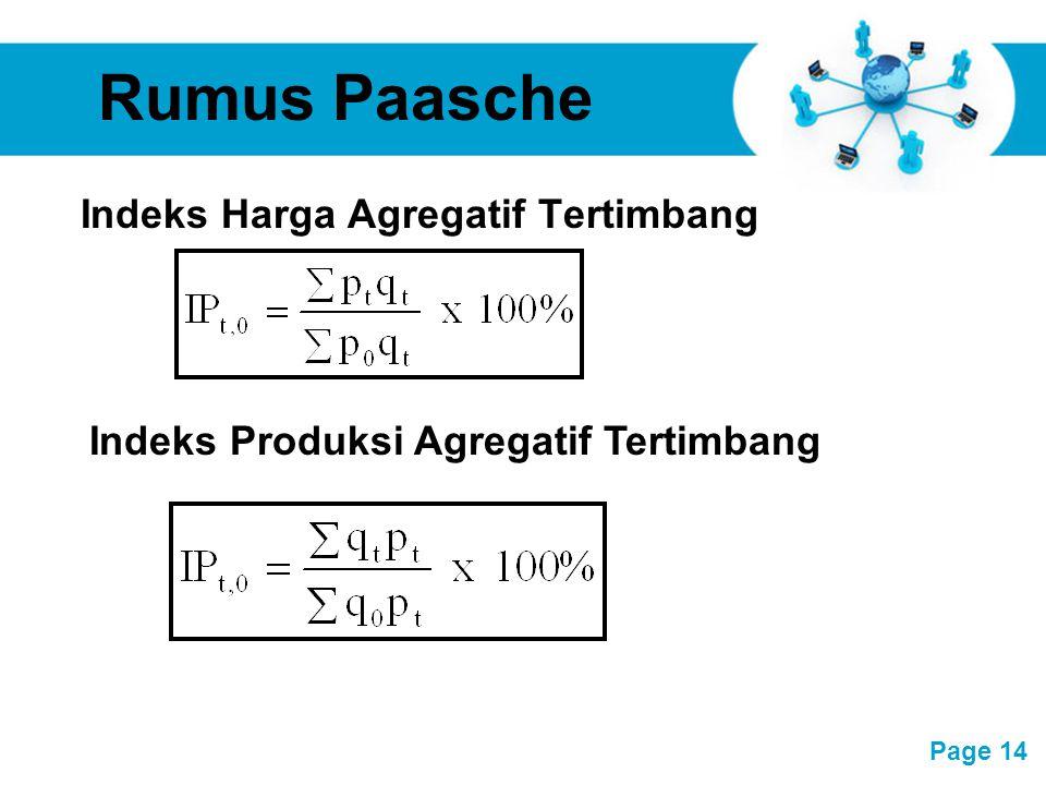Free Powerpoint Templates Page 14 Rumus Paasche Indeks Harga Agregatif Tertimbang Indeks Produksi Agregatif Tertimbang