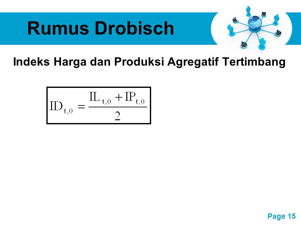 Free Powerpoint Templates Page 15 Rumus Drobisch Indeks Harga dan Produksi Agregatif Tertimbang