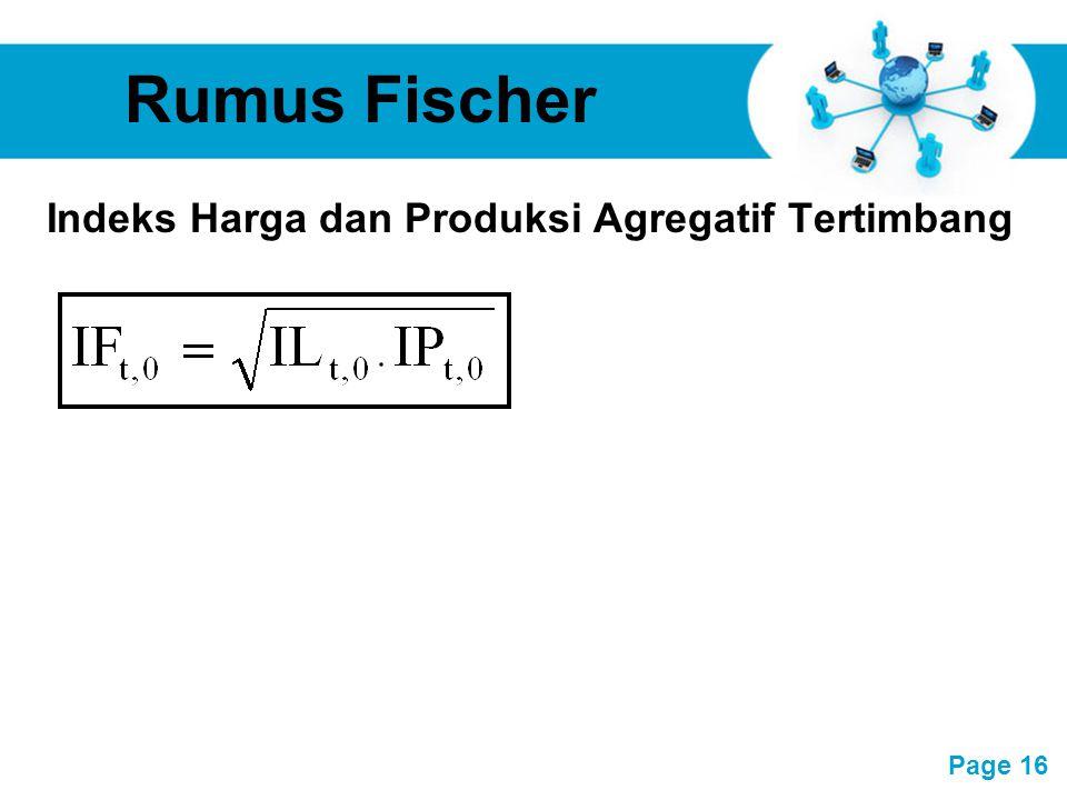 Free Powerpoint Templates Page 16 Rumus Fischer Indeks Harga dan Produksi Agregatif Tertimbang