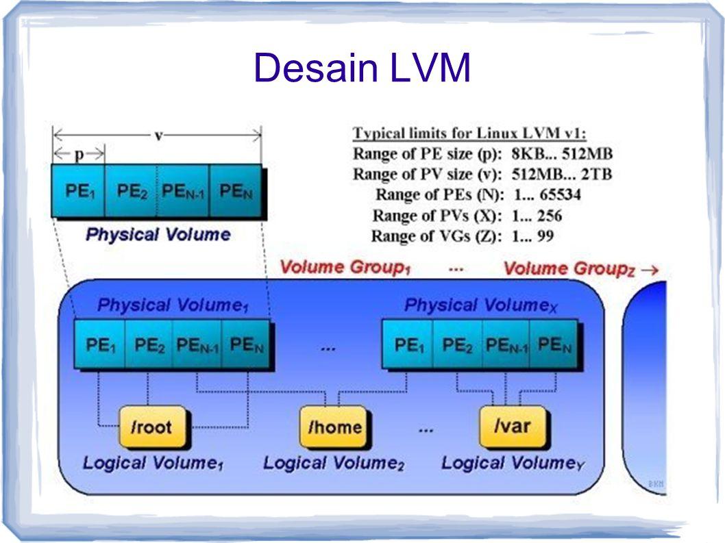 Desain LVM