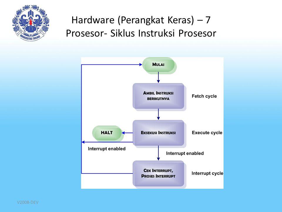 V2008-DEV Hardware (Perangkat Keras) – 7 Prosesor- Siklus Instruksi Prosesor