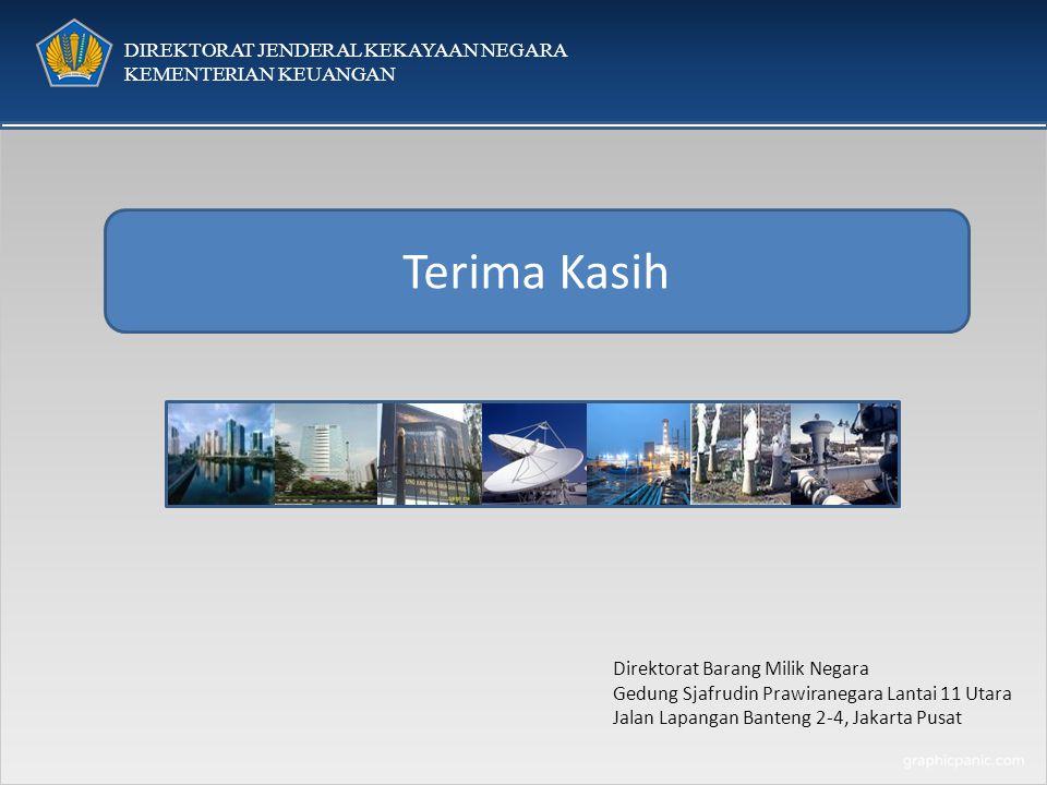 DIREKTORAT JENDERAL KEKAYAAN NEGARA KEMENTERIAN KEUANGAN Direktorat Barang Milik Negara Gedung Sjafrudin Prawiranegara Lantai 11 Utara Jalan Lapangan Banteng 2-4, Jakarta Pusat Terima Kasih
