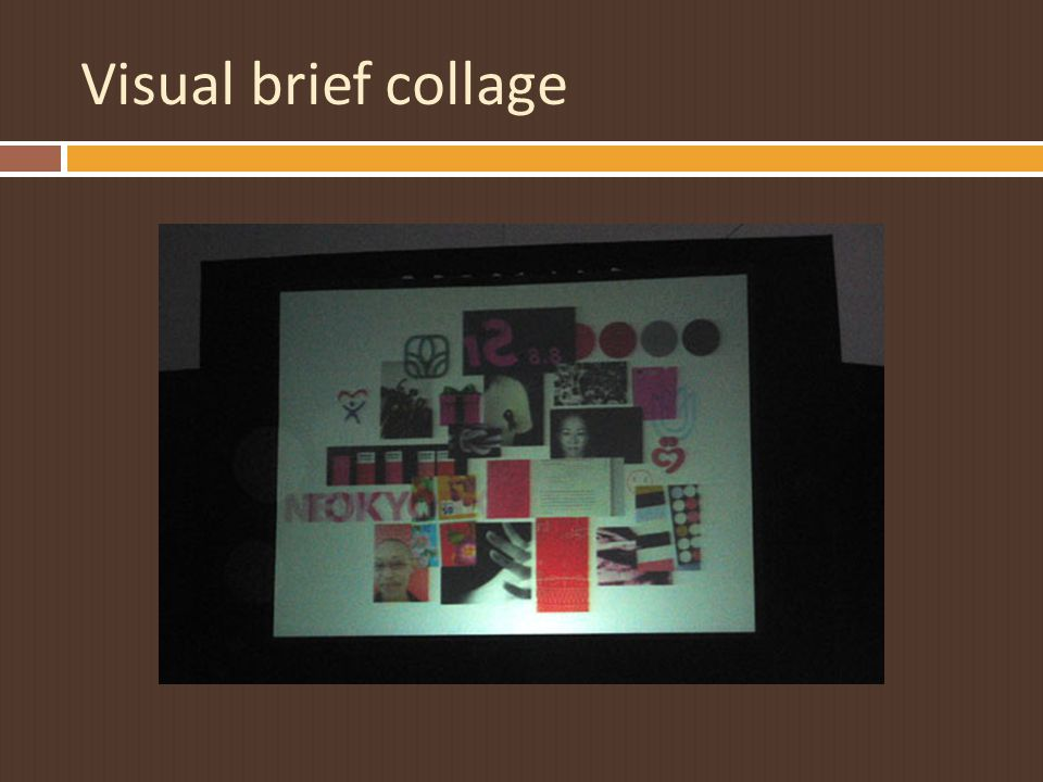 Visual brief collage