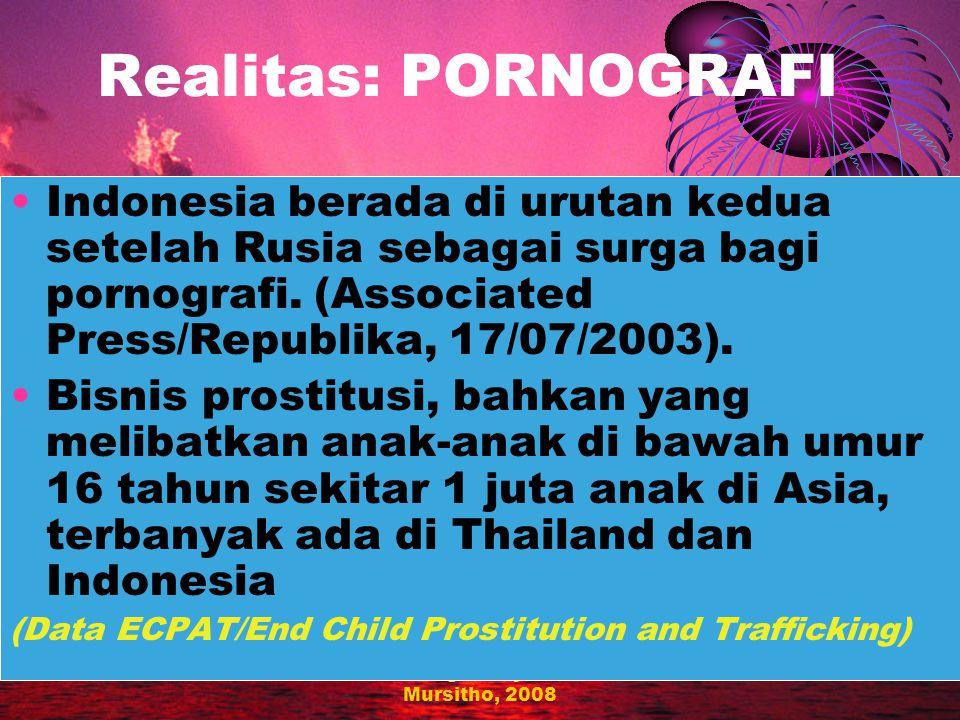 Redesigned by: Joko Mursitho, 2008 Realitas: NARKOBA Estimasi pengguna narkoba adalah 1,3-2 juta orang Estimasi pengguna narkoba suntik lebih dari 1 juta orang (Reid G, 2002).