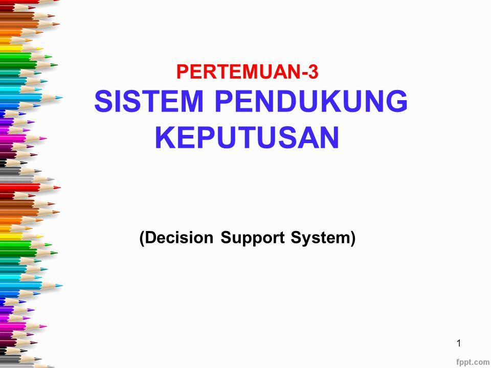 PERTEMUAN-3 SISTEM PENDUKUNG KEPUTUSAN (Decision Support System) 1