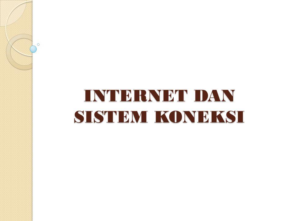 PENGERTIAN INTERNET (INTERCONECTED NETWORK) Internet adalah jaringan komputer di seluruh dunia yang menghubungkan jutaan jaringan untuk dapat berkomunikasi melalui web .