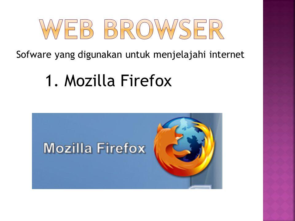Sofware yang digunakan untuk menjelajahi internet 2. Internet Explorer