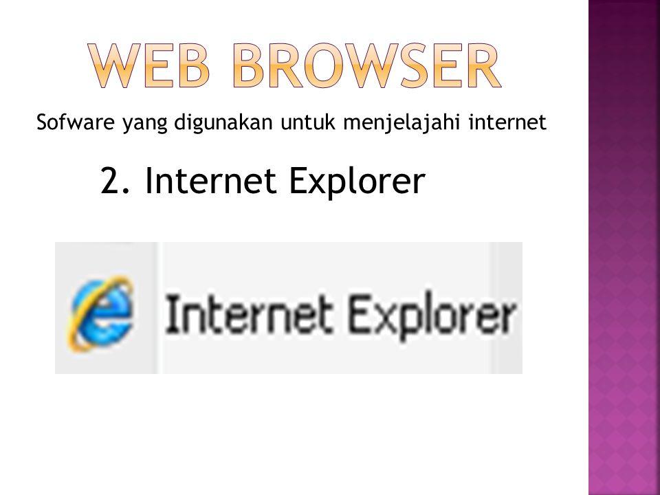 Sofware yang digunakan untuk menjelajahi internet 3. Opera