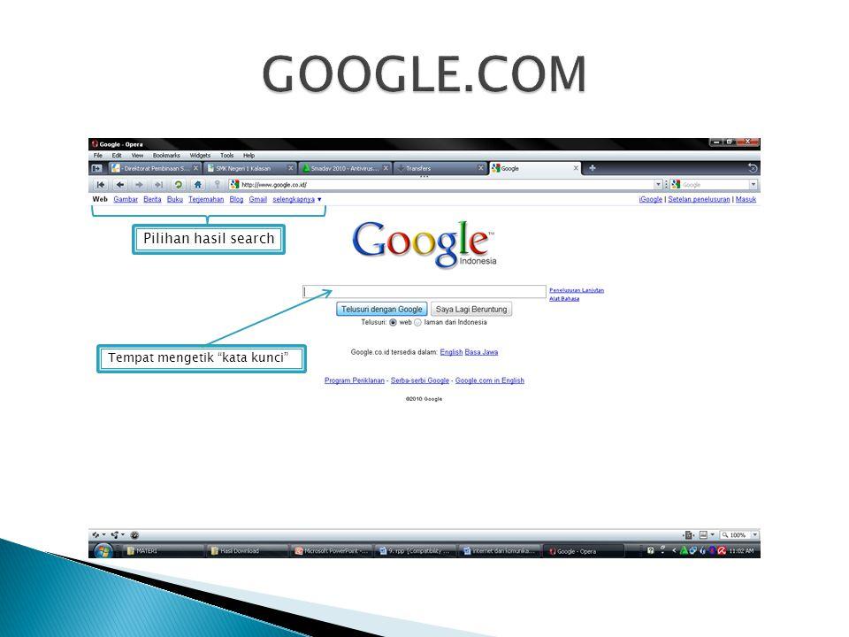  Browsing adalah mencari alamat web dengan menggunakan aplikasi web browser.