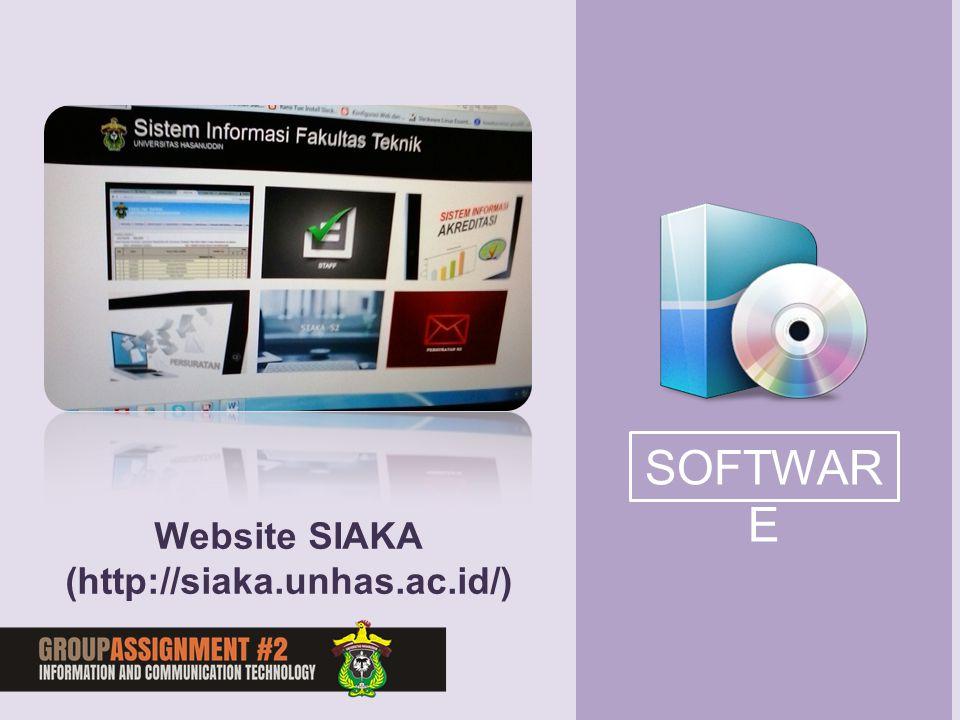 SOFTWAR E Website SIAKA (http://siaka.unhas.ac.id/)