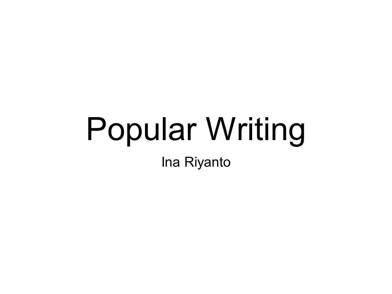 Untuk apa menulis.