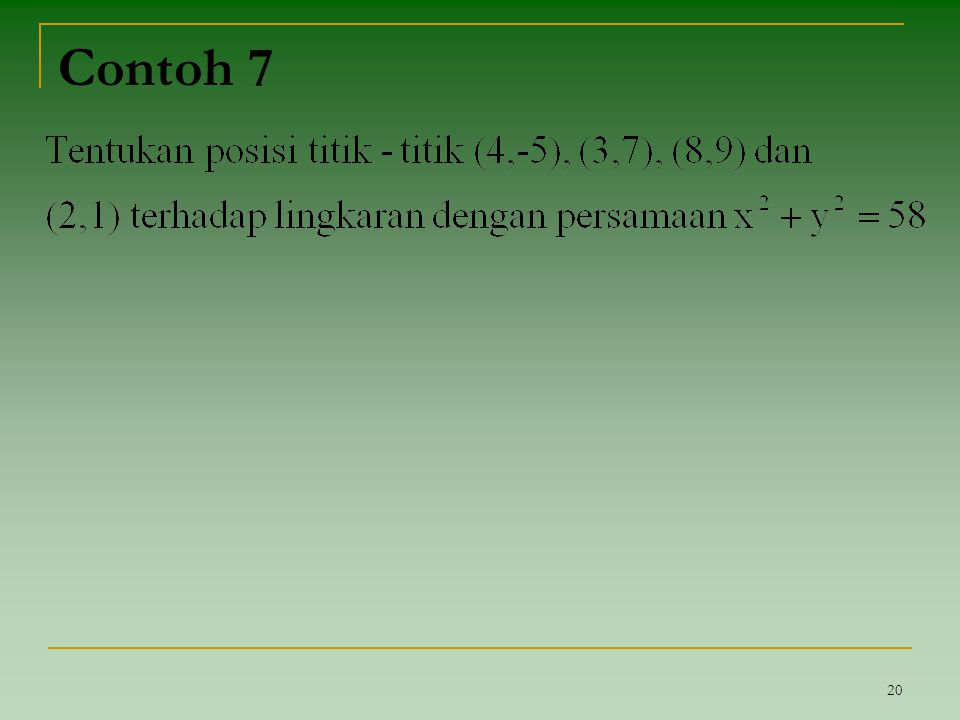 Contoh 7 20