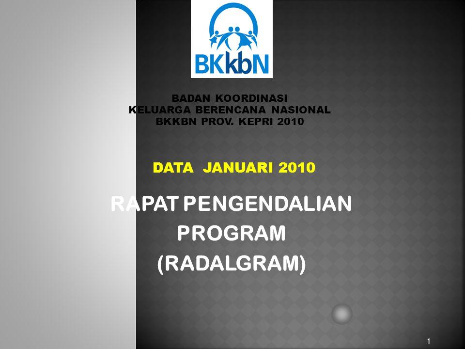 DATA JANUARI 2010 1 BADAN KOORDINASI KELUARGA BERENCANA NASIONAL BKKBN PROV.
