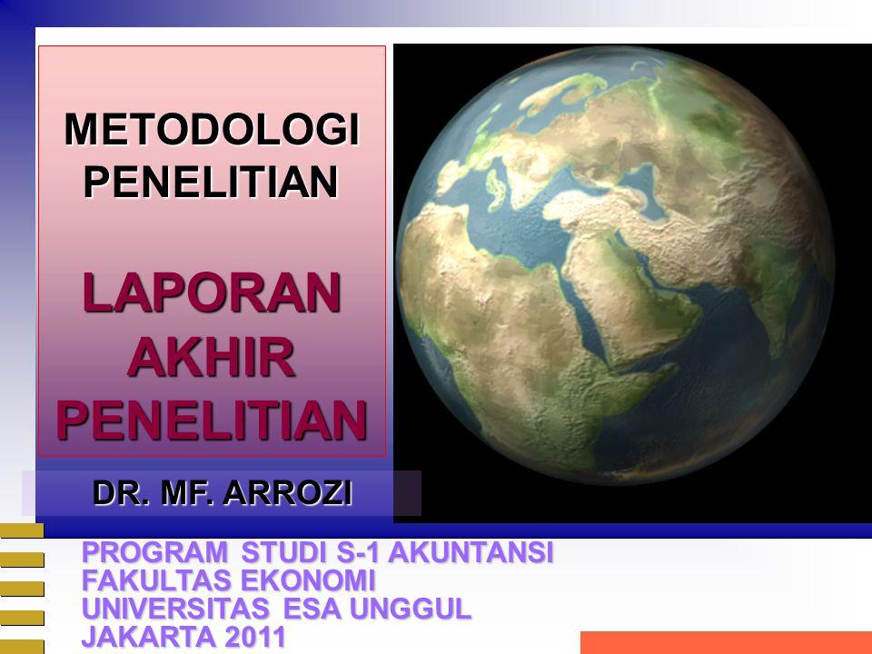 METODOLOGIPENELITIANLAPORANAKHIRPENELITIAN DR. MF.