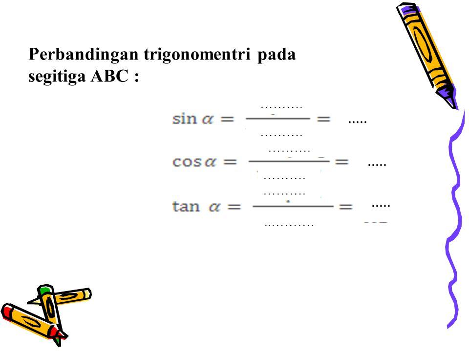 Rumus Cosinus a.Pada ∆ADC: CD 2 = AC 2 - AD 2 t 2 = b 2 – (b cos α) 2 b.