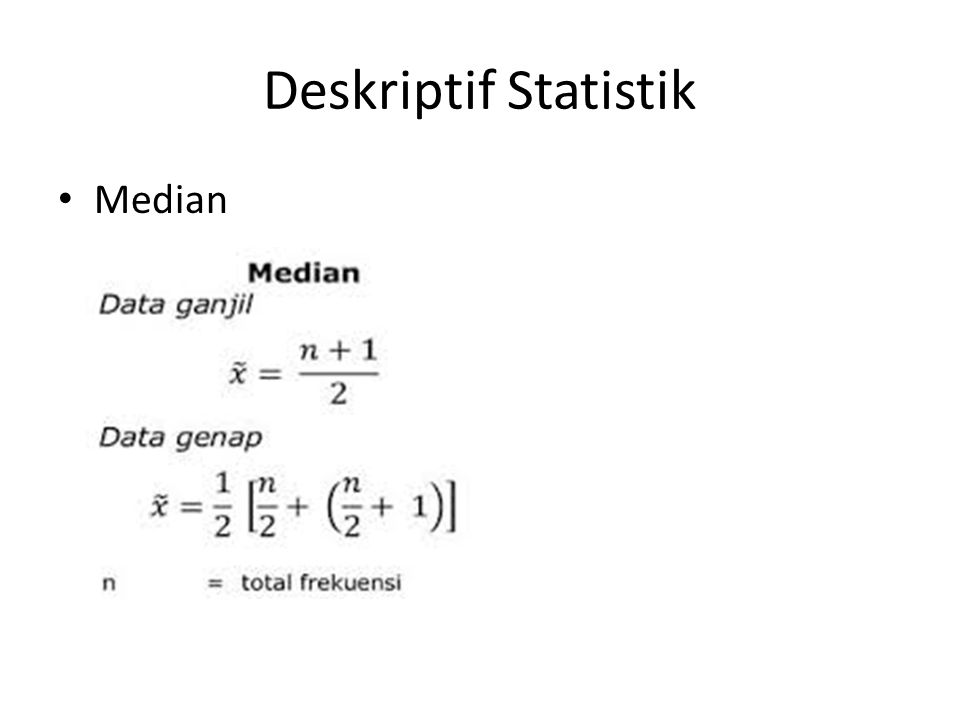 Deskriptif Statistik Median
