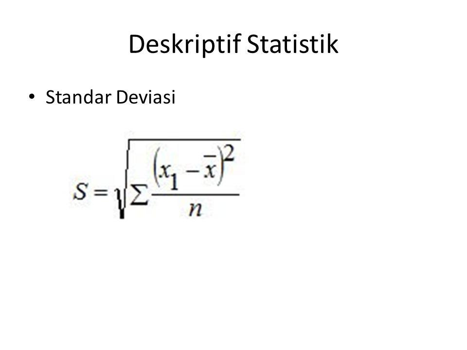 Deskriptif Statistik Standar Deviasi