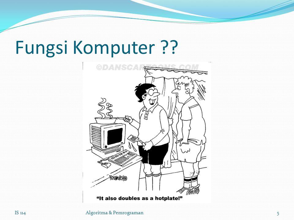 Fungsi Komputer IS 114Algoritma & Pemrograman5
