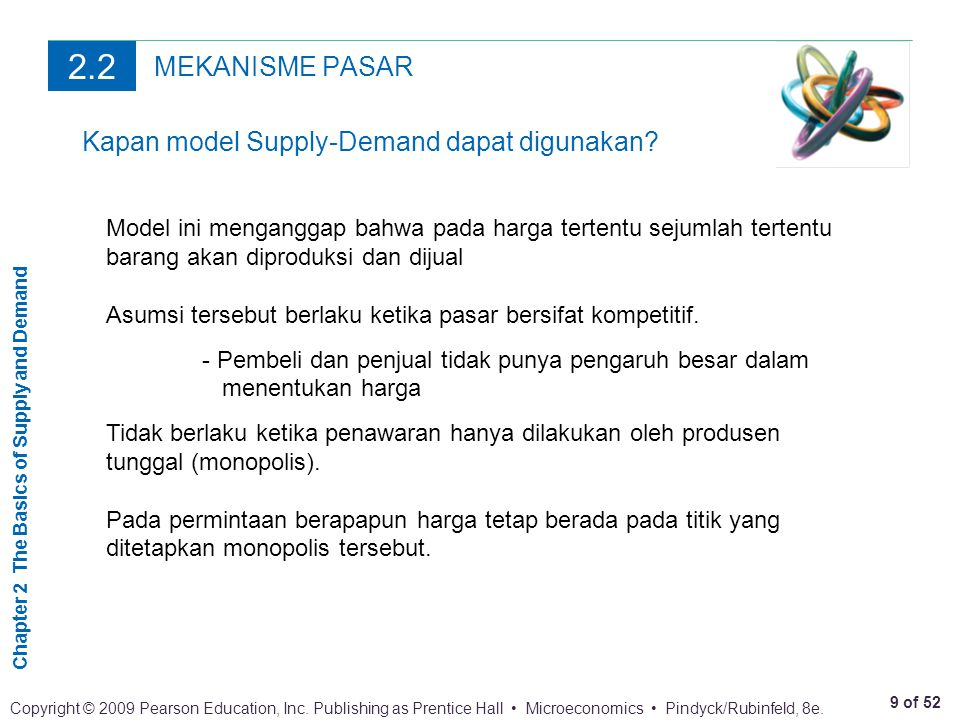 Chapter 2 The Basics of Supply and Demand 9 of 52 Copyright © 2009 Pearson Education, Inc.
