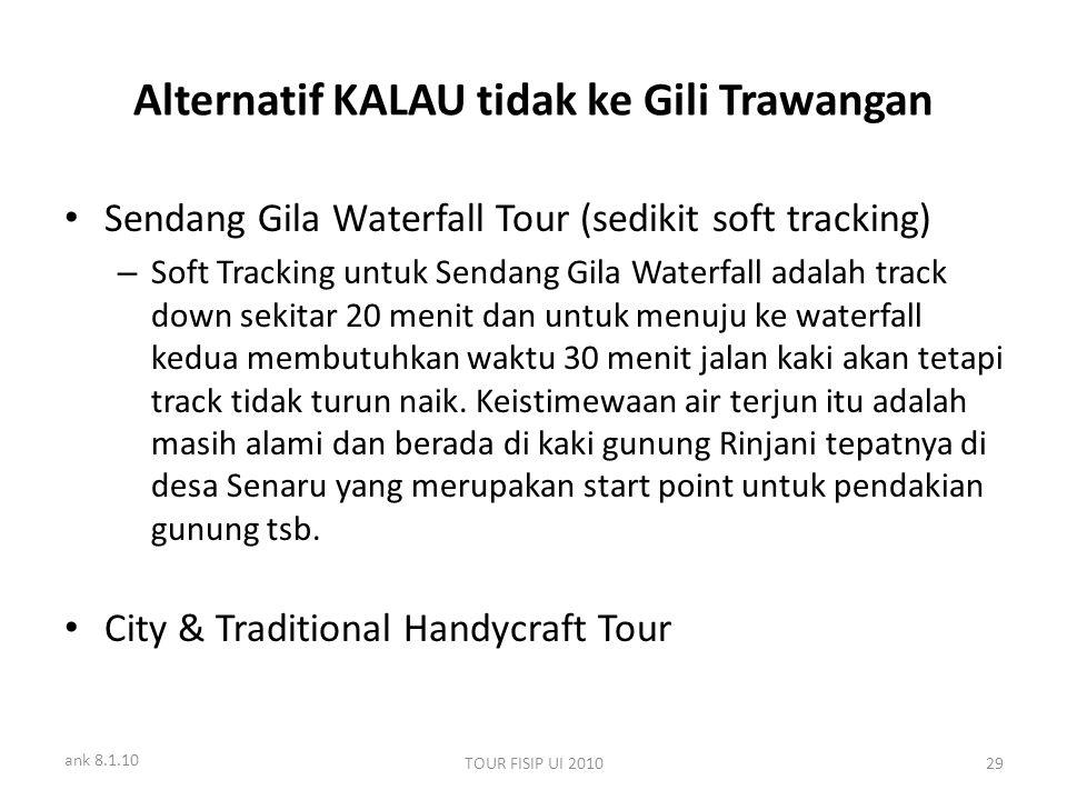 ank 8.1.10 TOUR FISIP UI 201029 Alternatif KALAU tidak ke Gili Trawangan Sendang Gila Waterfall Tour (sedikit soft tracking) – Soft Tracking untuk Sen