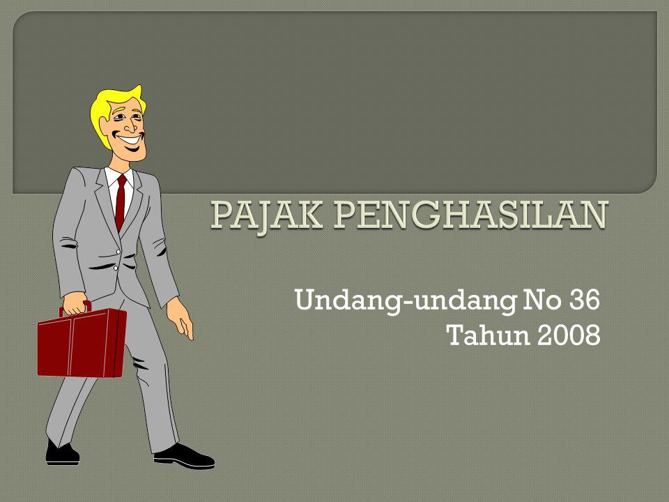 Undang-undang No 36 Tahun 2008