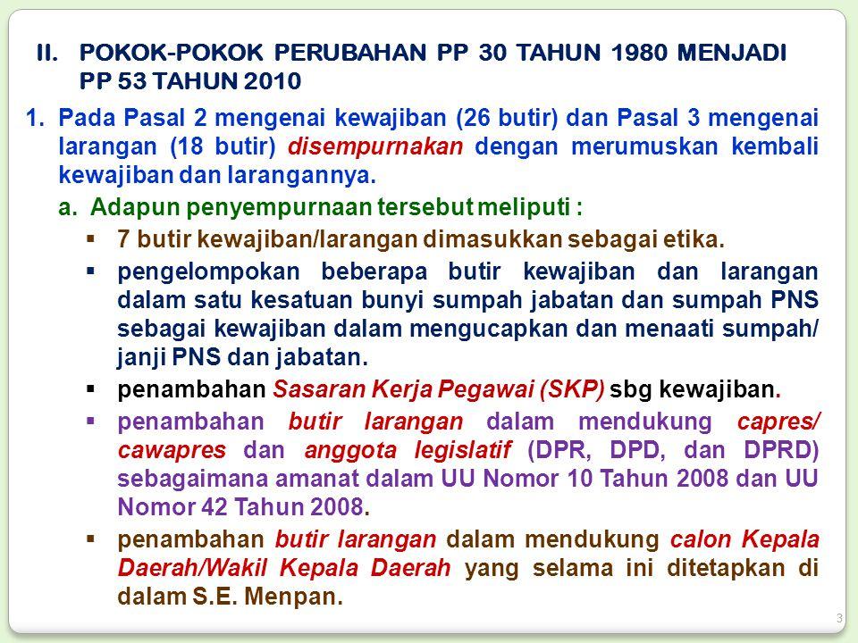 15.Hak-hak kepegawaian bagi PNS yang mengajukan banding administratif ke BAPEK adalah sebagai berikut : a.apabila masuk kerja gajinya tetap dibayarkan.