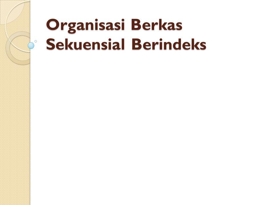 Contoh Bentuk B-Tree