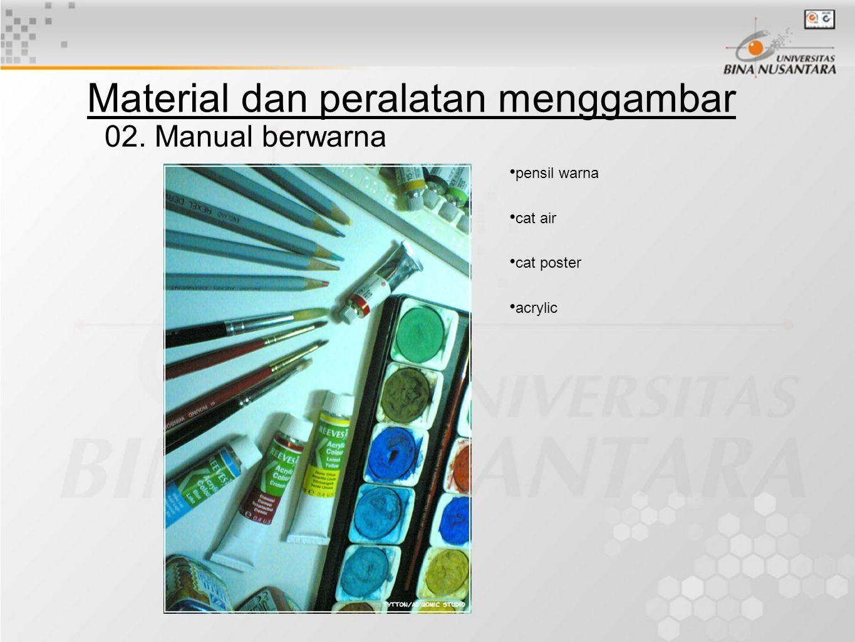 02. Manual berwarna pensil warna cat air cat poster acrylic