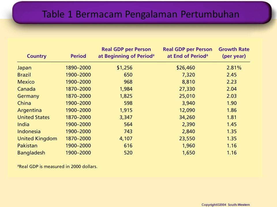 PERTUMBUHAN EKONOMI DI BERBAGAI NEGARA Standar hidup, yang diukur dengan PDB riil per kapita, bervariasi antara bangsa-bangsa.