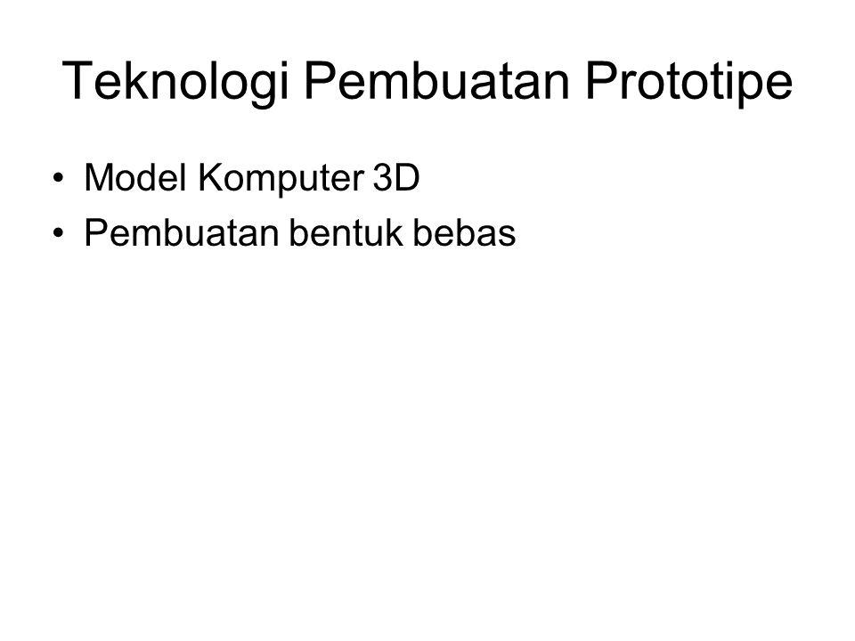 Teknologi Pembuatan Prototipe Model Komputer 3D Pembuatan bentuk bebas