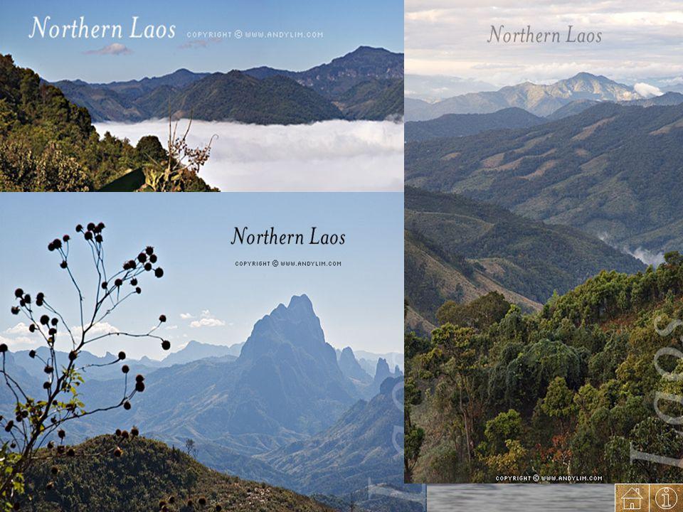 Iklim Iklim Laos adalah tropis dengan suhu rata-rata 26°C-28°C dan dipengaruhi oleh angin musim. Musim penghujanberlangsung dari Mei hingga November,
