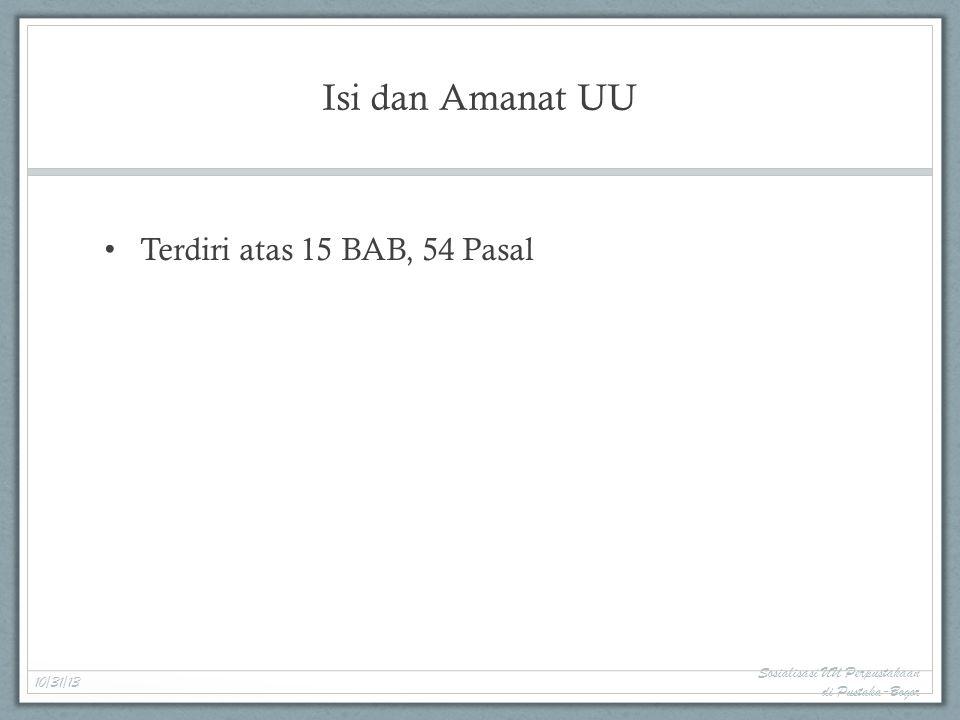 Sertifikasi Pustakawan Tenaga Ahli Bidang Perpustakaan 10/31/13 Sosialisasi UU Perpustakaan di Pustaka-Bogor