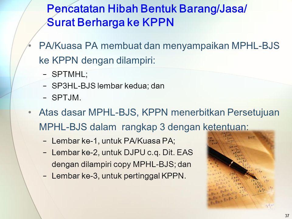 PA/Kuasa PA membuat dan menyampaikan MPHL-BJS ke KPPN dengan dilampiri: − SPTMHL; − SP3HL-BJS lembar kedua; dan − SPTJM. Atas dasar MPHL-BJS, KPPN men