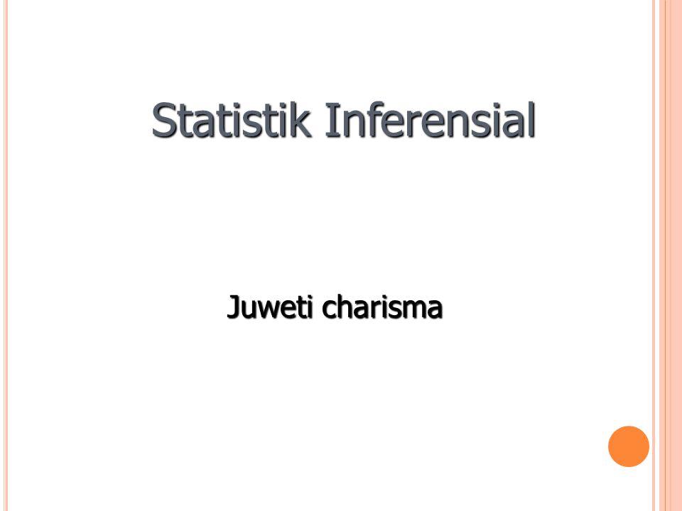Statistik Inferensial Juweti charisma