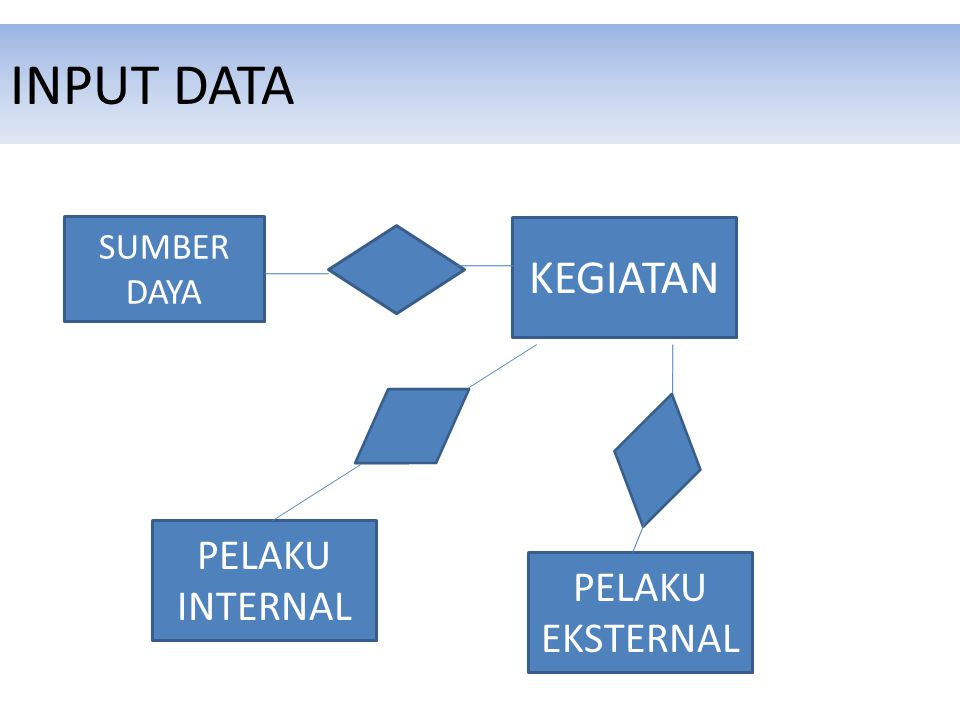INPUT DATA SUMBER DAYA KEGIATAN PELAKU EKSTERNAL PELAKU INTERNAL