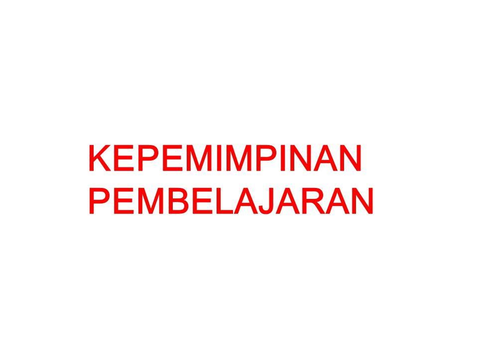 KEPEMIMPINAN PEMBELAJARAN Master Trainer :