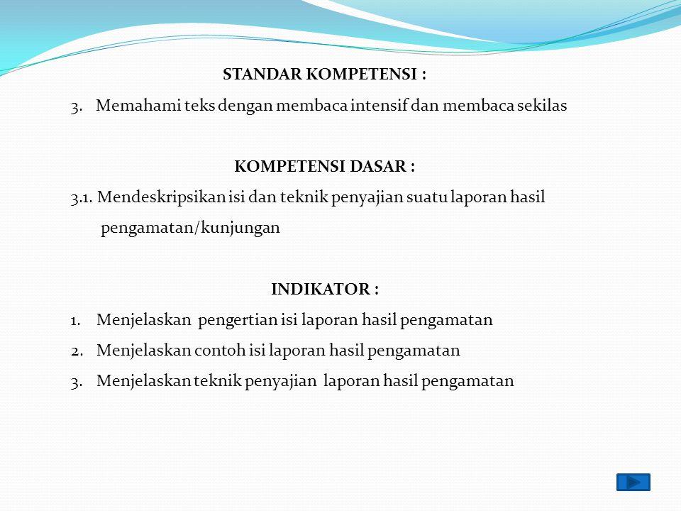 MATERI PELAJARAN INDIKATOR- INDIKATOR KOMPETENSI DASAR MI/SD